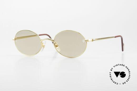 Cartier Sorbonne Ovale Luxus Vintagebrille 90er Details