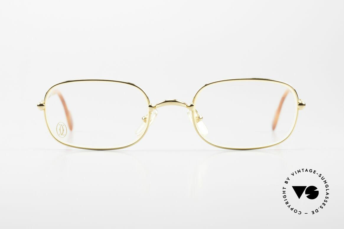 Cartier Deimios Rare Luxus Brillenfassung 90er, Deimios = Mod. aus der Cartier 'Thin Rim' Collection, Passend für Herren und Damen