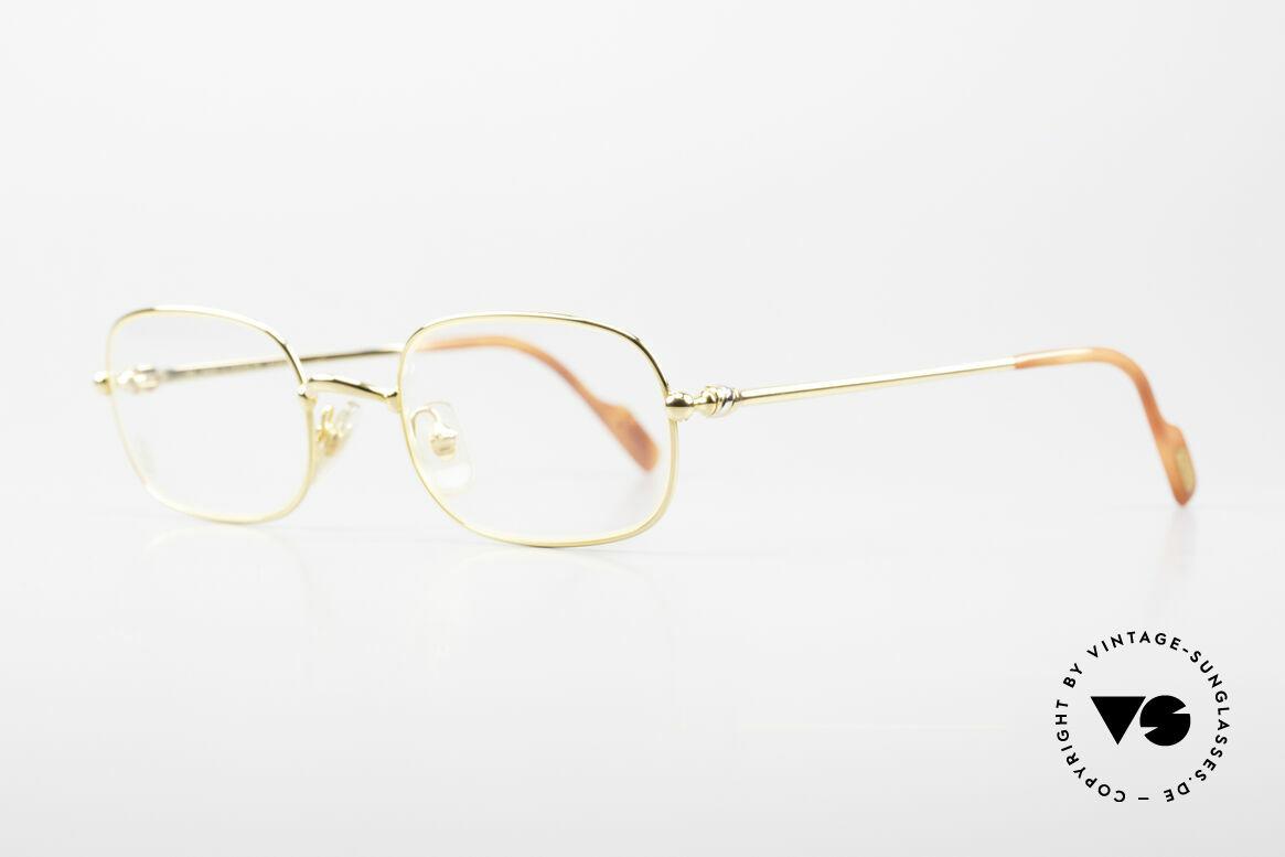 Cartier Deimios Rare Luxus Brillenfassung 90er, leichter flexibler Rahmen für höchsten Tragekomfort, Passend für Herren und Damen