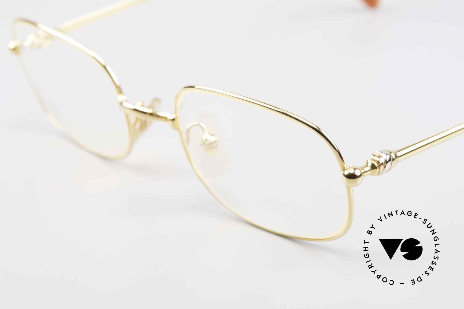 Cartier Deimios Rare Luxus Brillenfassung 90er, vergoldete Metall-Fassung; medium Größe 52-21, 135, Passend für Herren und Damen