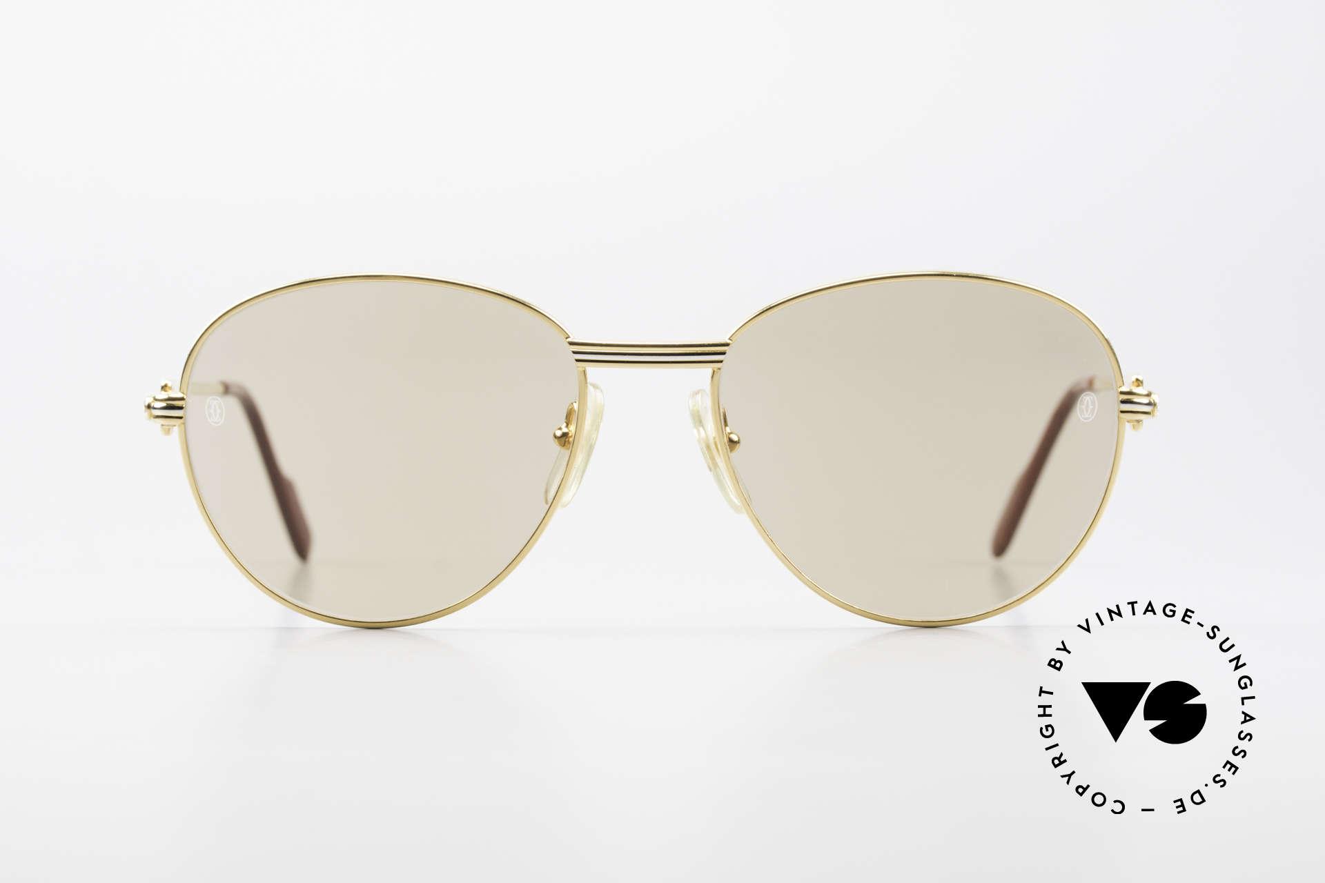 """Cartier S Brillants 0,20 ct 80er Diamanten Sonnenbrille, Modell aus der """"S""""-Serie (Markteinführung 1988), Passend für Damen"""