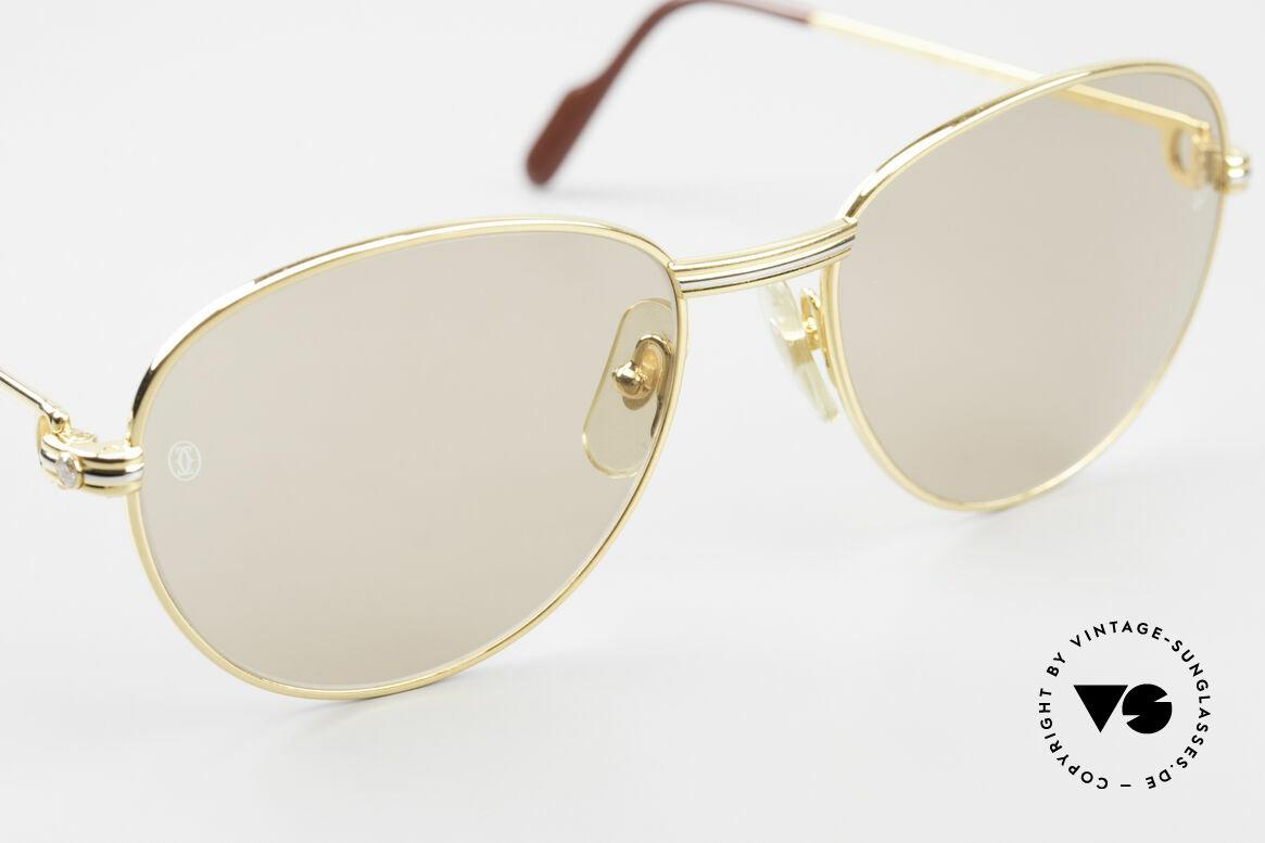 Cartier S Brillants 0,20 ct 80er Diamanten Sonnenbrille, ungetragen + OVP (sehr selten in diesem Zustand), Passend für Damen