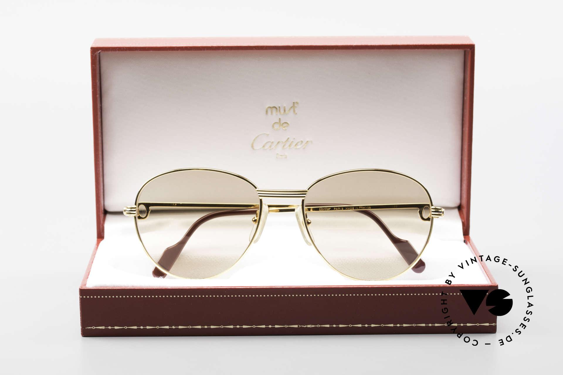 Cartier S Brillants 0,20 ct 80er Diamanten Sonnenbrille, Größe: medium, Passend für Damen