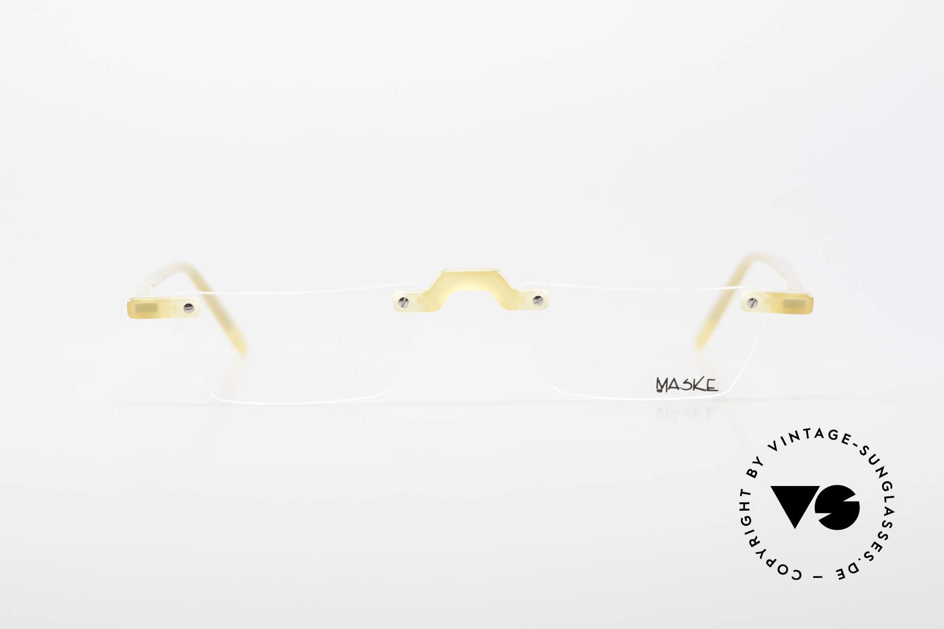 Design Maske Berlin Alpha 8 Designer Vintage LeseBrille, phantasievolle 90er Jahre Designs; made in Kreuzberg, Passend für Herren und Damen