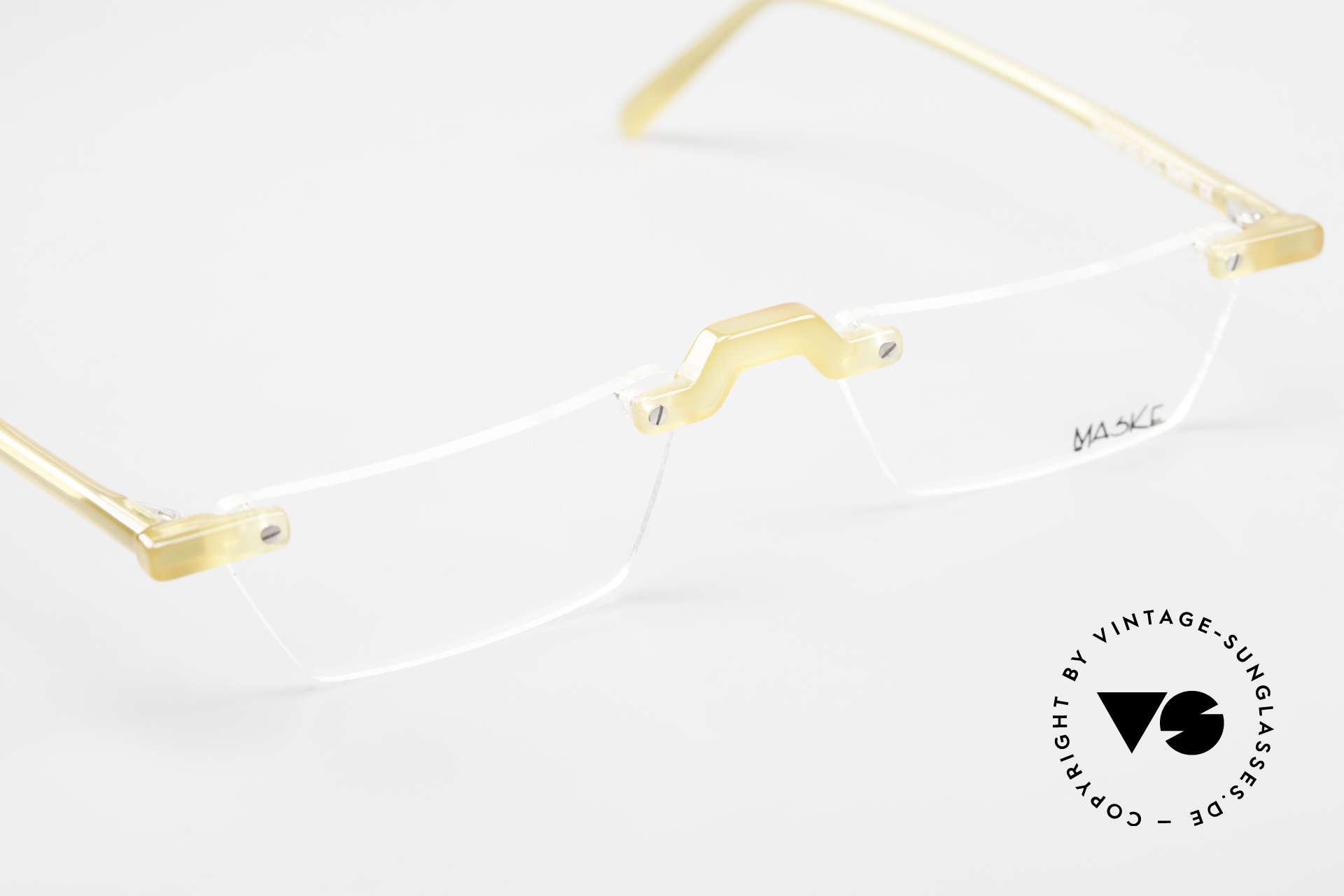 Design Maske Berlin Alpha 8 Designer Vintage LeseBrille, die DEMO-Gläser sollten durch optische ersetzt werden, Passend für Herren und Damen