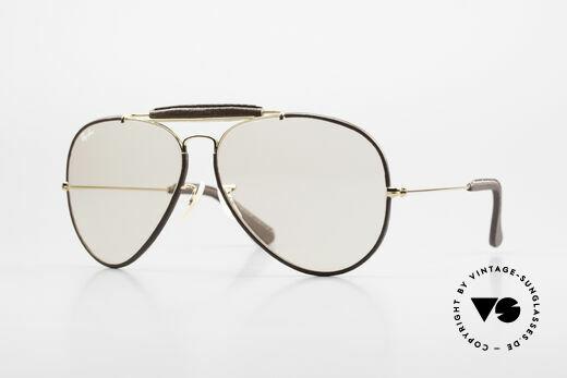 Ray Ban Outdoorsman II Leder Sonnenbrille Automatik Details