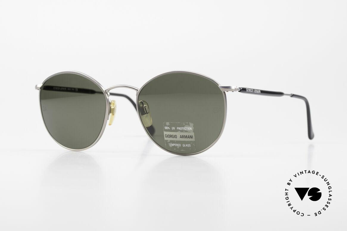 Giorgio Armani 627 Vintage Panto Sonnenbrille, vintage Designer-Sonnenbrille von Giorgio Armani, Passend für Herren und Damen