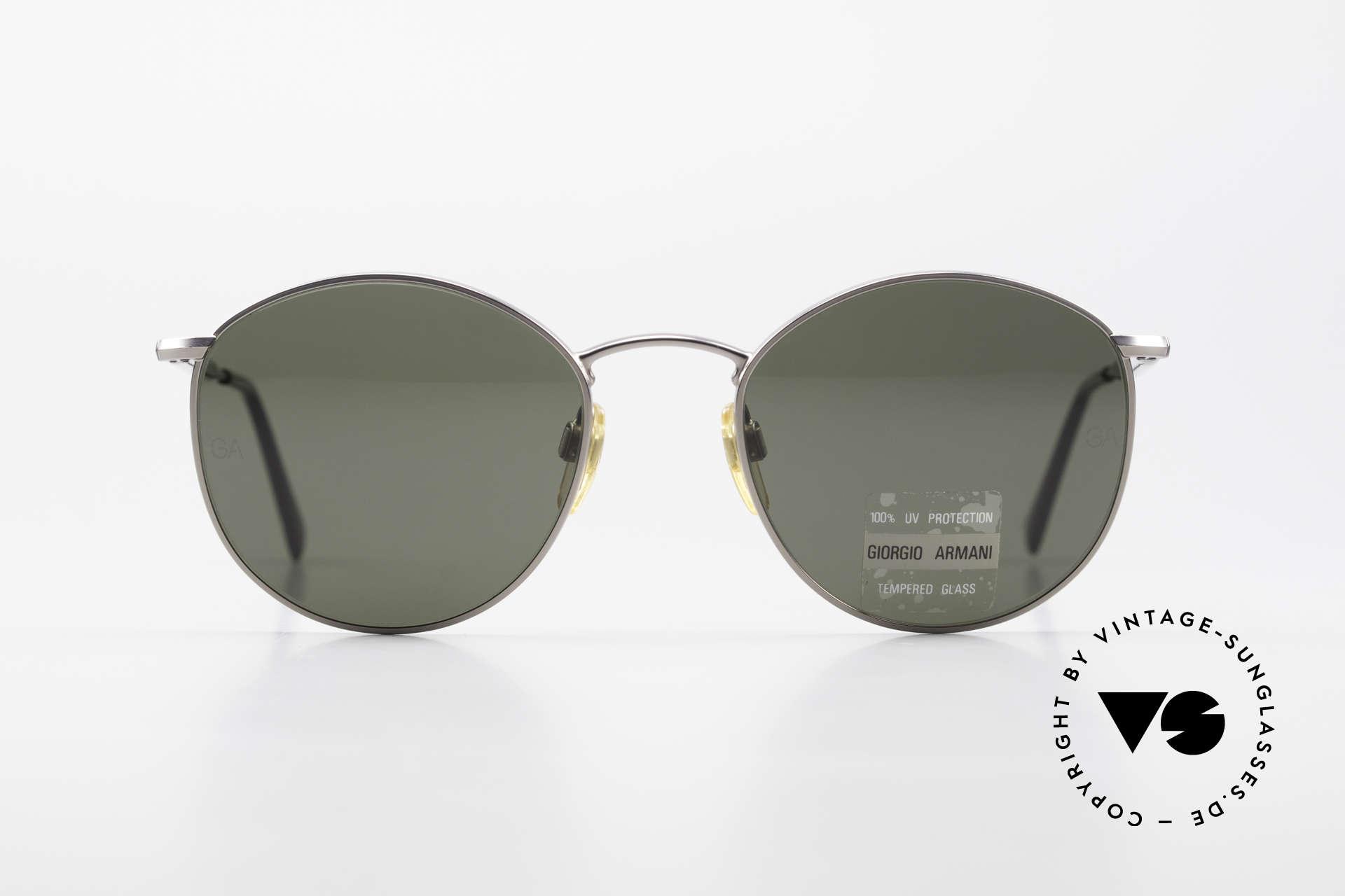 Giorgio Armani 627 Vintage Panto Sonnenbrille, klassische PANTO-Form in Größe 51/19, (126mm), Passend für Herren und Damen