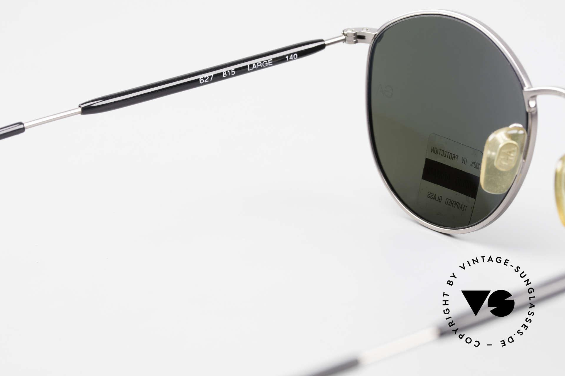 Giorgio Armani 627 Vintage Panto Sonnenbrille, KEINE Retrobrille, sondern ein 90er Jahre Original!, Passend für Herren und Damen