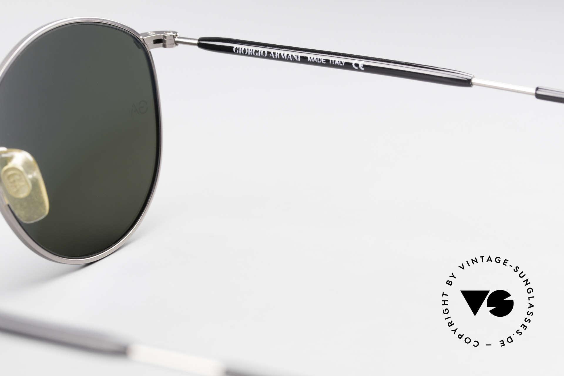 Giorgio Armani 627 Vintage Panto Sonnenbrille, Größe: small, Passend für Herren und Damen