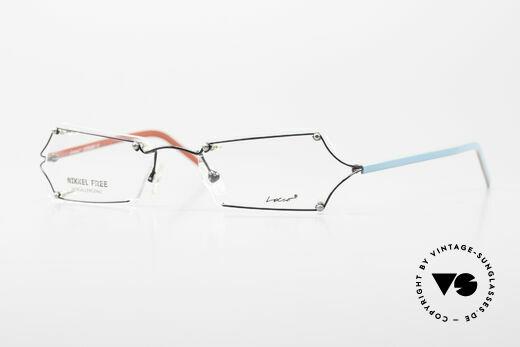 Locco Lux Verrückte Brillenfassung 90er Details