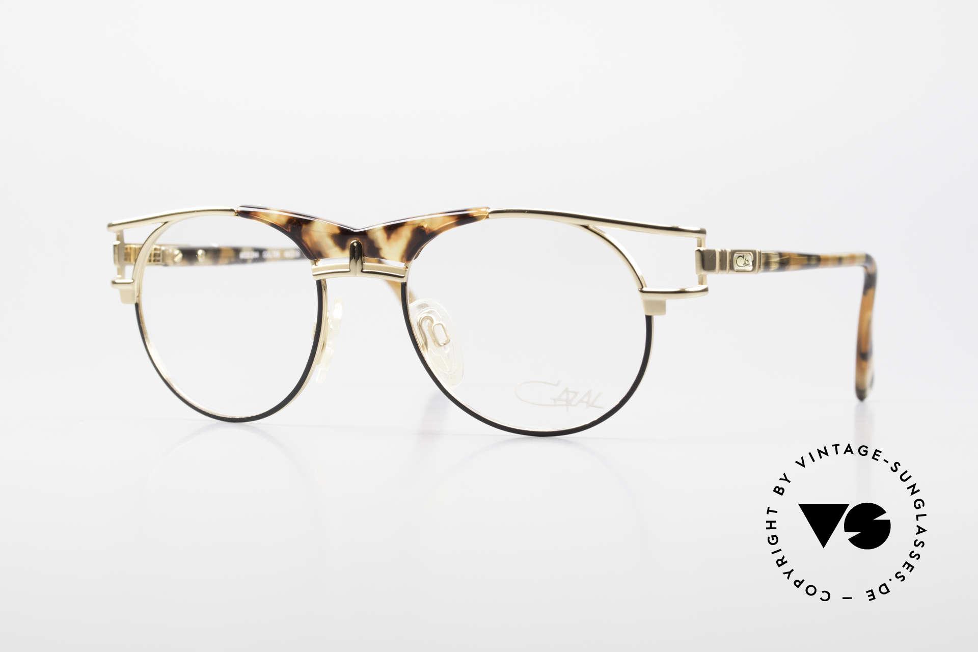 Cazal 244 90er Vintage Brille Panto Stil, alte, elegante CAZAL Designerbrille der 1990er, Passend für Herren und Damen