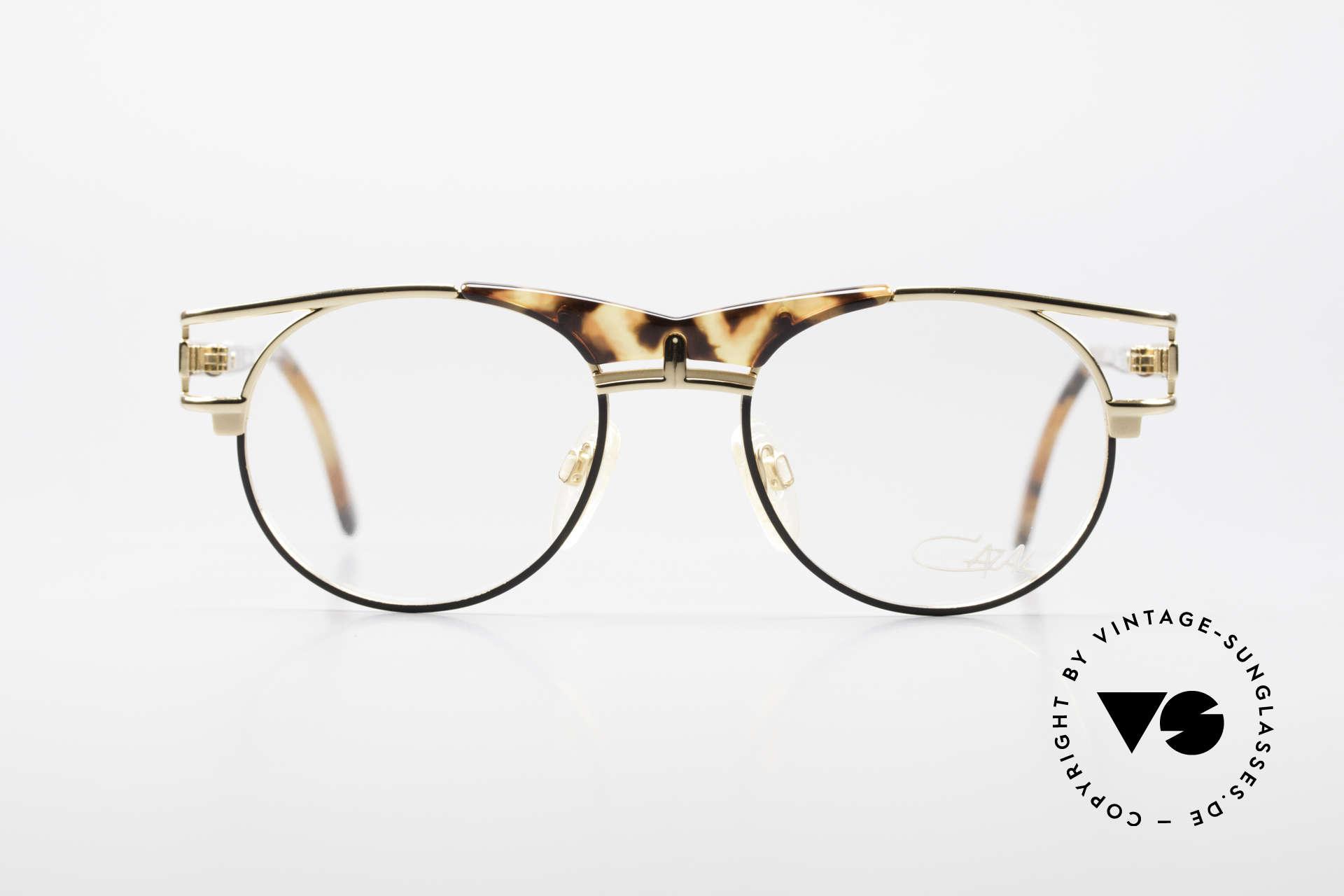 Cazal 244 90er Vintage Brille Panto Stil, absolute Top-Qualität und hoher Tragekomfort, Passend für Herren und Damen