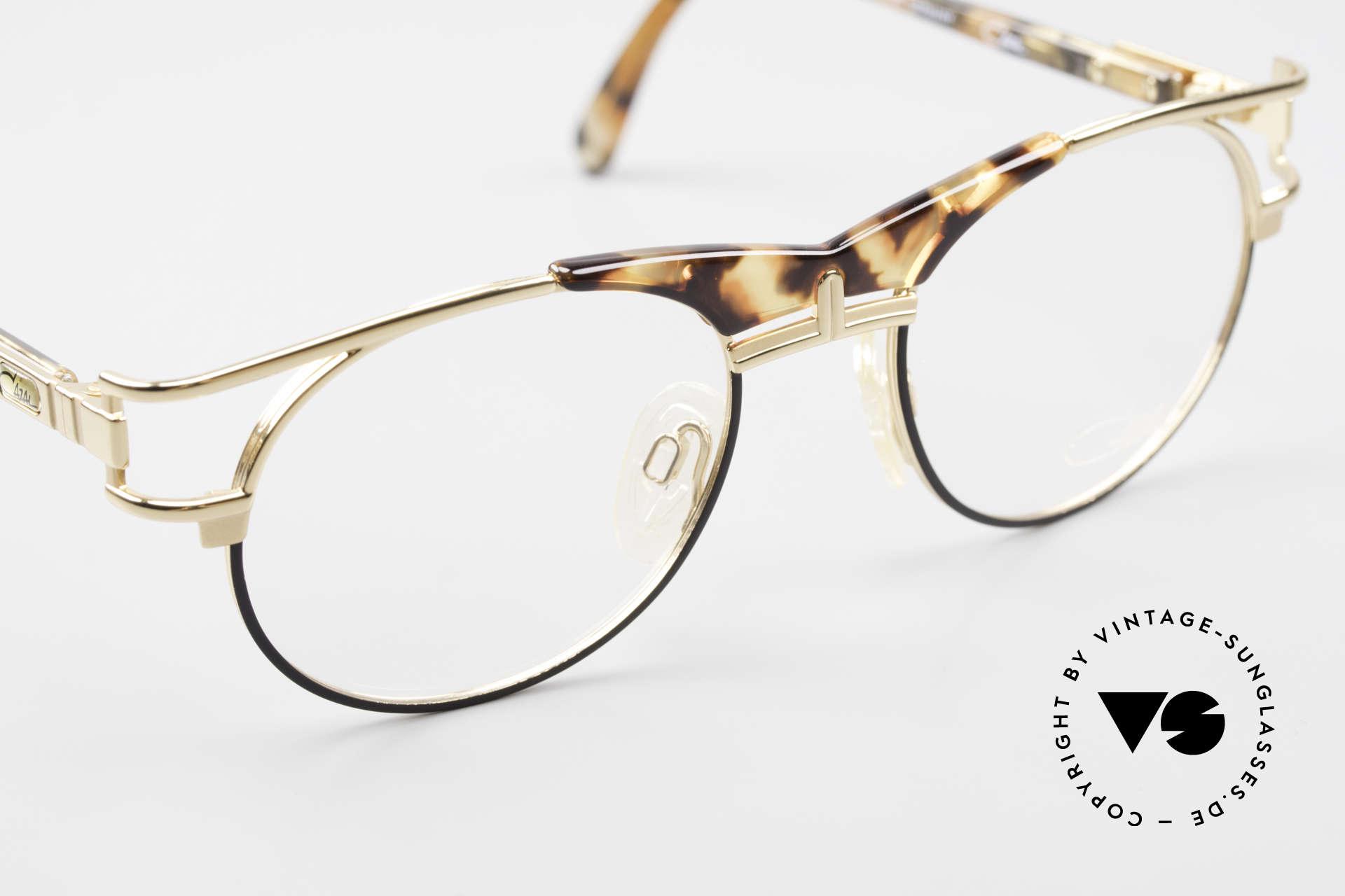 Cazal 244 90er Vintage Brille Panto Stil, KEINE Retrobrille; ein 25 Jahre altes ORIGINAL, Passend für Herren und Damen