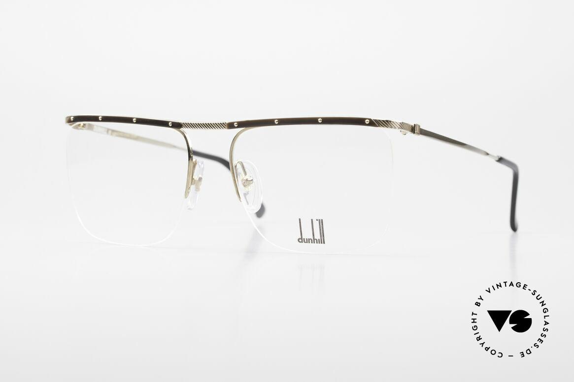 Dunhill 6056 Alte Horn Brille 80er Vintage, Alfred DUNHILL Luxus-Brillenfassung von 1988, Passend für Herren