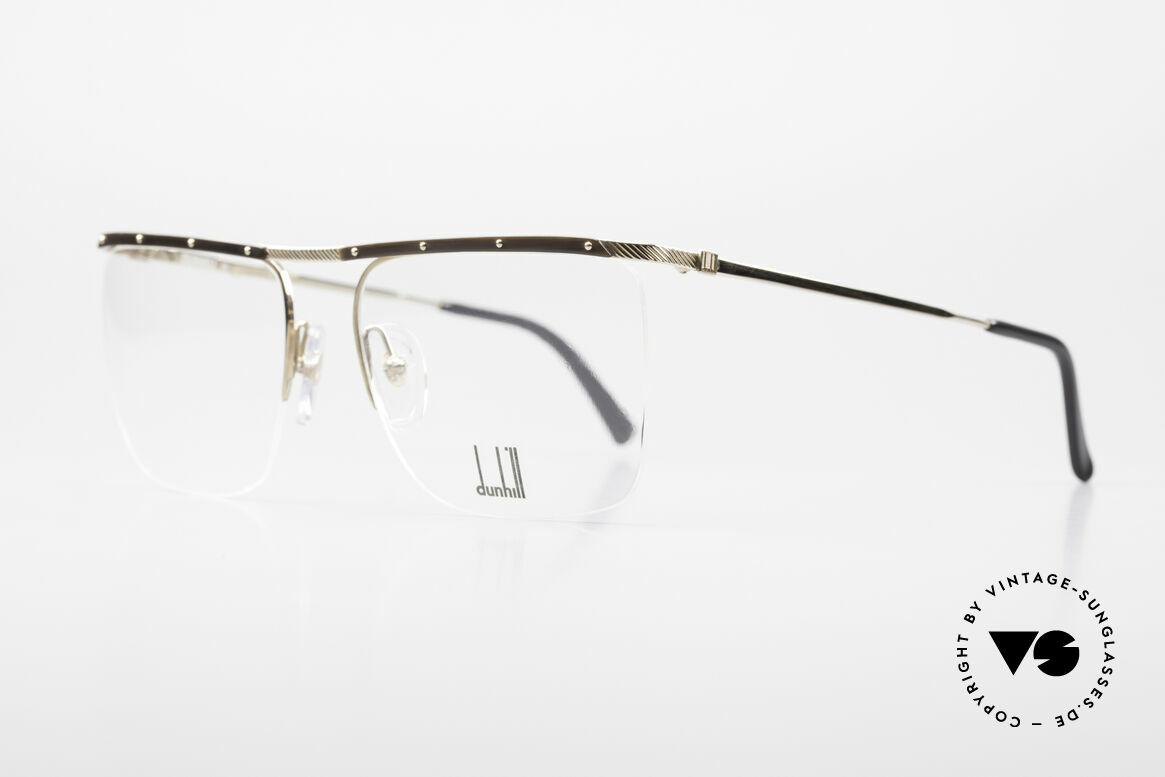 Dunhill 6056 Alte Horn Brille 80er Vintage, schlichtes, stilvolles Design (Gentleman Brille), Passend für Herren