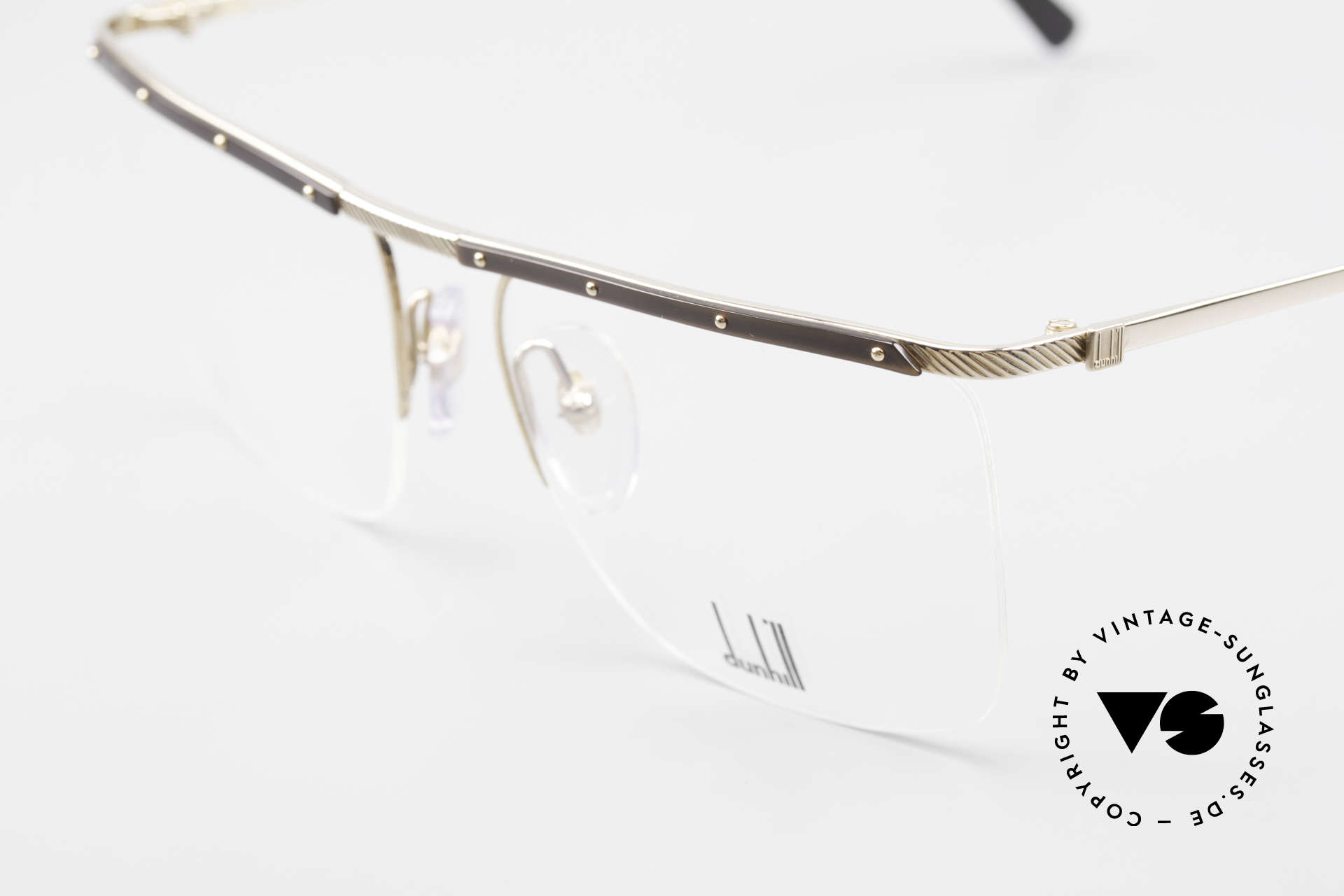 Dunhill 6056 Alte Horn Brille 80er Vintage, ein vintage Klassiker in absoluter Top-Qualität, Passend für Herren