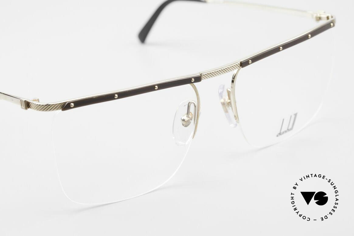 Dunhill 6056 Alte Horn Brille 80er Vintage, ungetragen (wie alle unsere vintage Dunhills), Passend für Herren