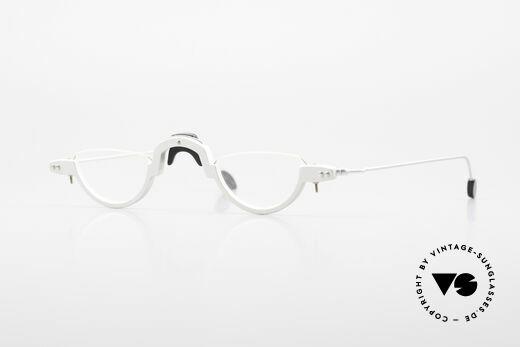 MDG Bauhaus 5005 Minimalistische Alubrille 90er Details