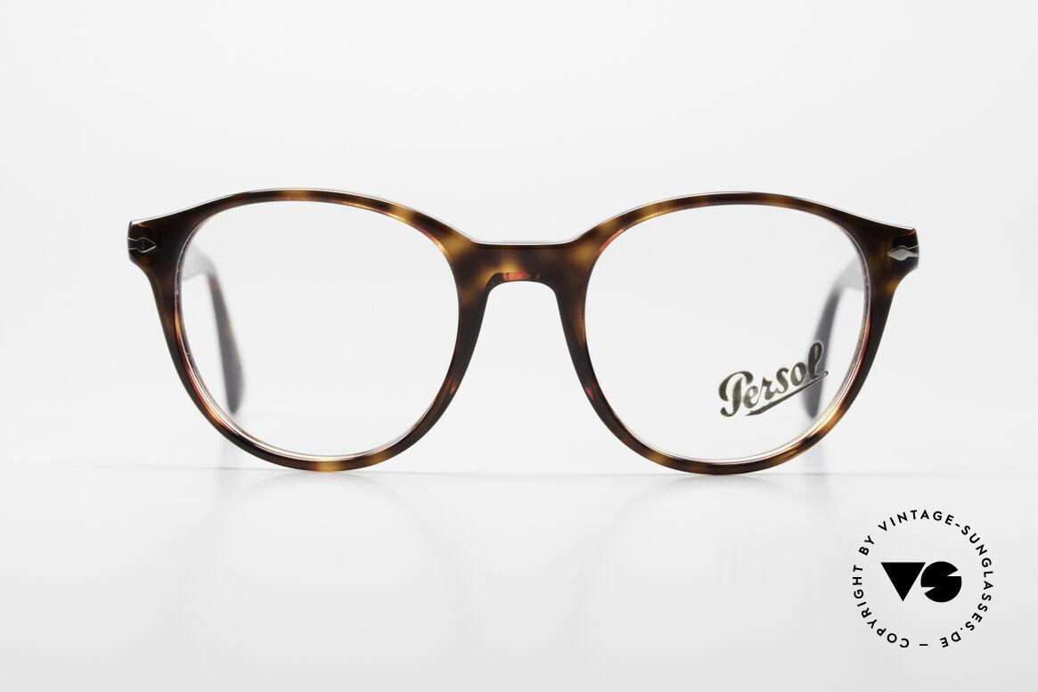 Persol 3153 Zeitlose Panto Unisex Brille, klassische Brillenform & flexible Federscharniere, Passend für Herren und Damen