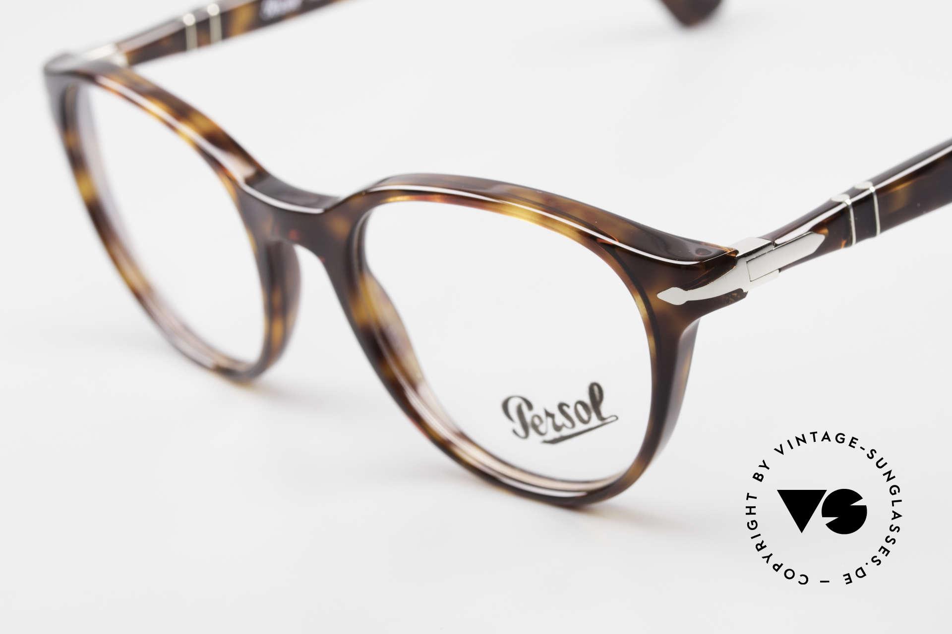 Persol 3153 Zeitlose Panto Unisex Brille, eine Neuauflage der alten Brillen von Persol Ratti, Passend für Herren und Damen