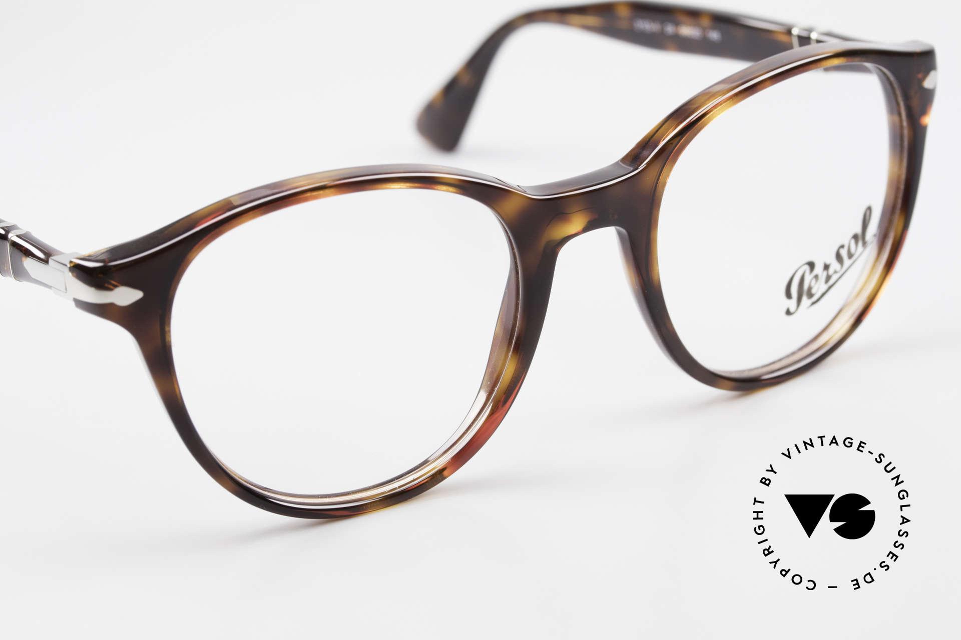 Persol 3153 Zeitlose Panto Unisex Brille, Unisex-Modell, daher passend für Damen & Herren, Passend für Herren und Damen