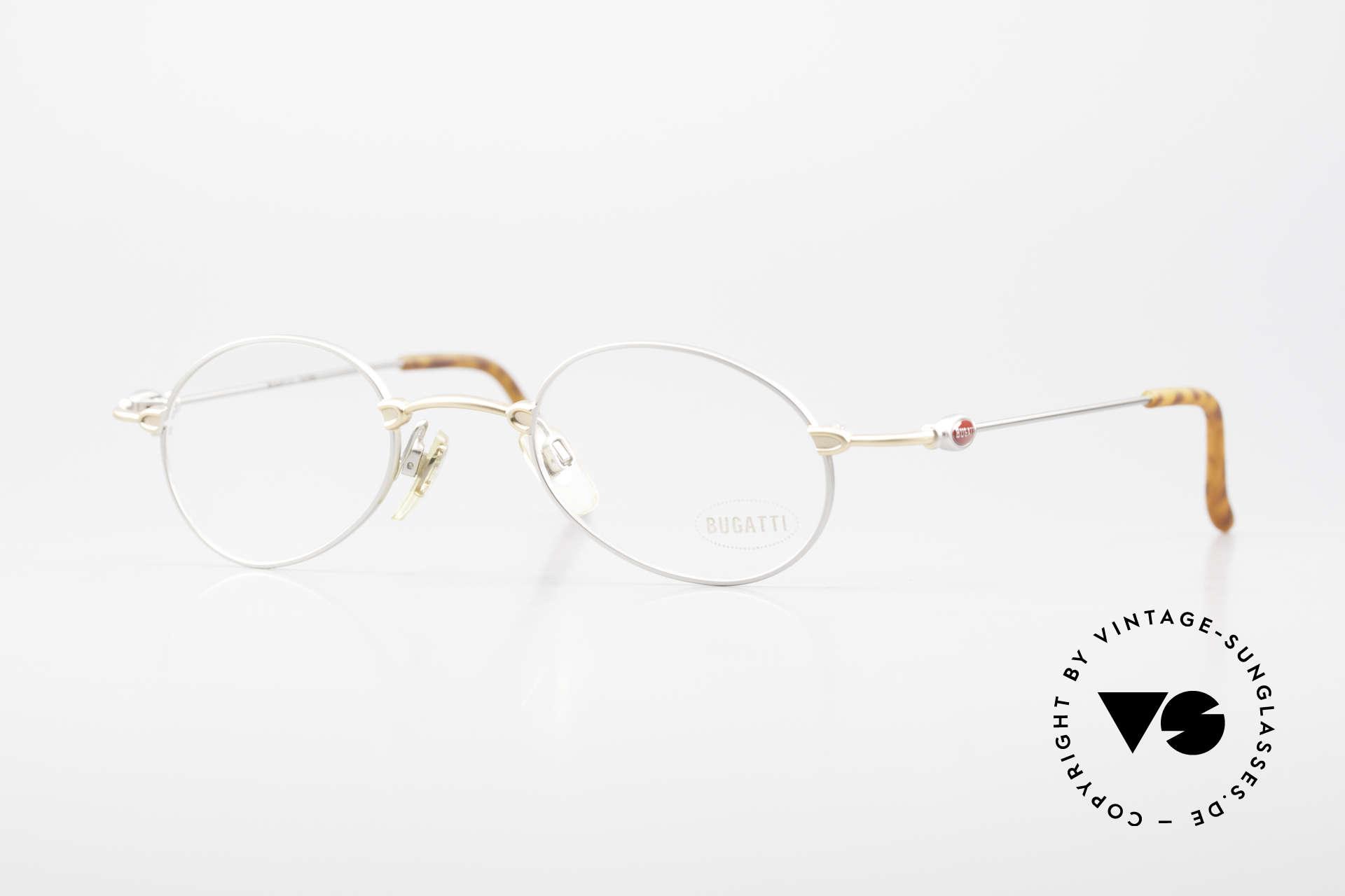 Bugatti 10759 Vintage Brille Herren 90er, sehr leichte 90er Herren Designerbrille von BUGATTI, Passend für Herren