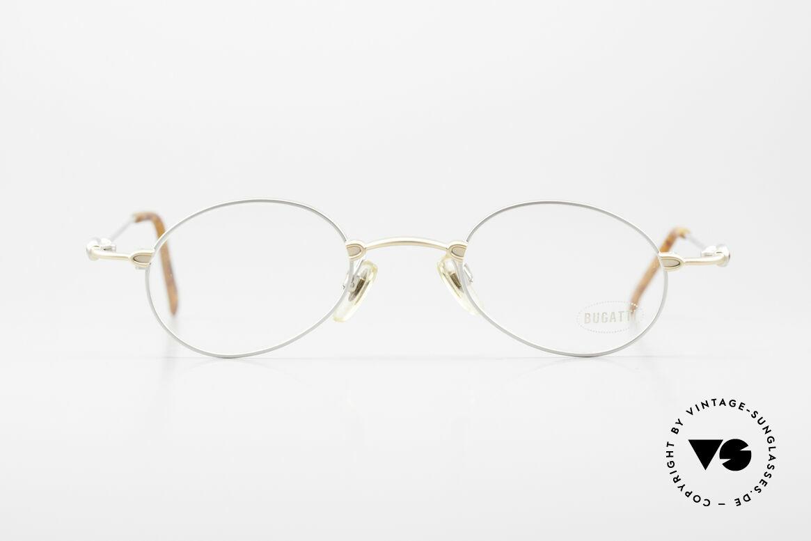 Bugatti 10759 Vintage Brille Herren 90er, Material und Verarbeitung auf Top-Niveau in Gr. 44°23, Passend für Herren