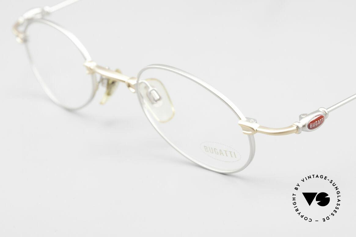 Bugatti 10759 Vintage Brille Herren 90er, ungetragene Rarität (inkl. Bugatti Etui und Verpackung), Passend für Herren