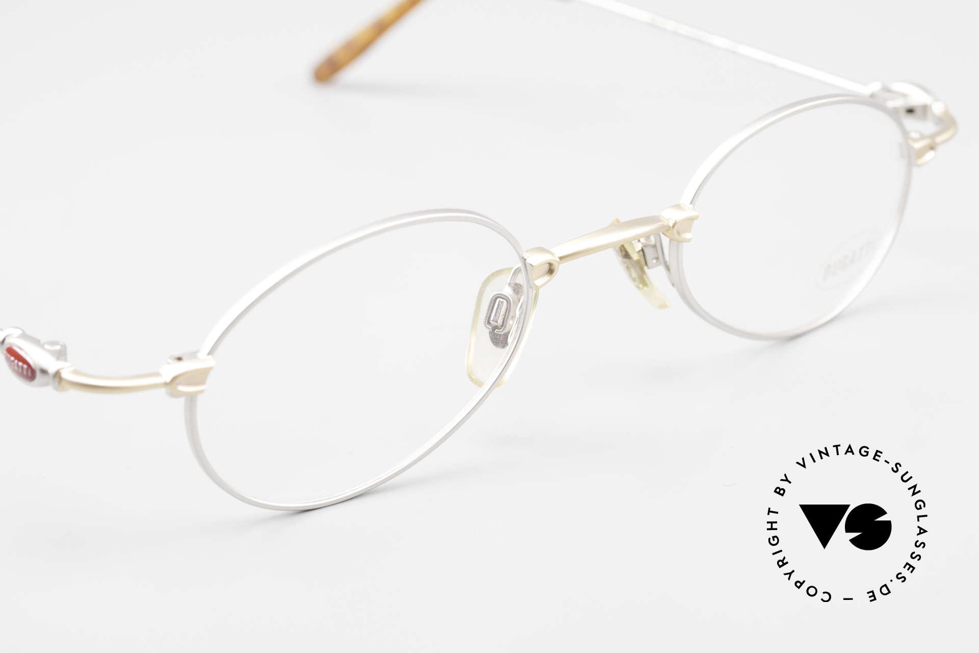 Bugatti 10759 Vintage Brille Herren 90er, KEINE Retrobrille; ein ORIGINAL aus den späten 90ern!, Passend für Herren