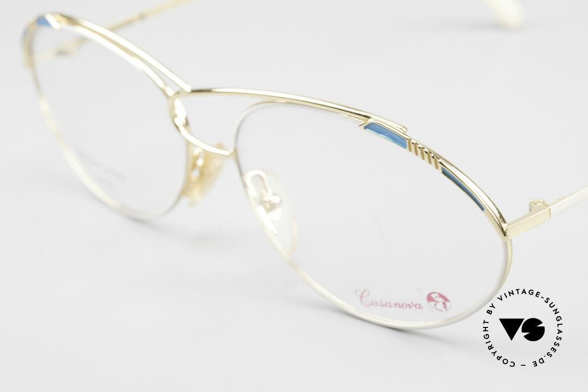 Casanova LC13 24kt Vergoldete Vintage Brille, Rarität & absolutes Sammler-Highlight (Museumsstück), Passend für Damen