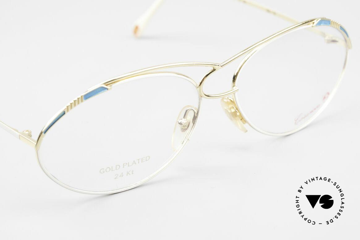 Casanova LC13 24kt Vergoldete Vintage Brille, ungetragen (wie alle unsere 80er vintage Kunst-Brillen), Passend für Damen