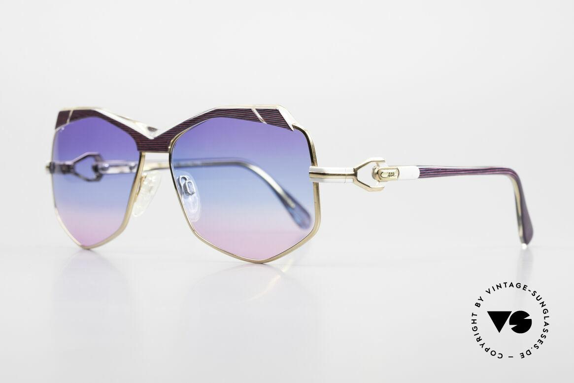 Cazal 230 Bunte Cazal Sonnenbrille 80er, Handarbeit aus Passau (FRAME W.GERMANY), Passend für Damen