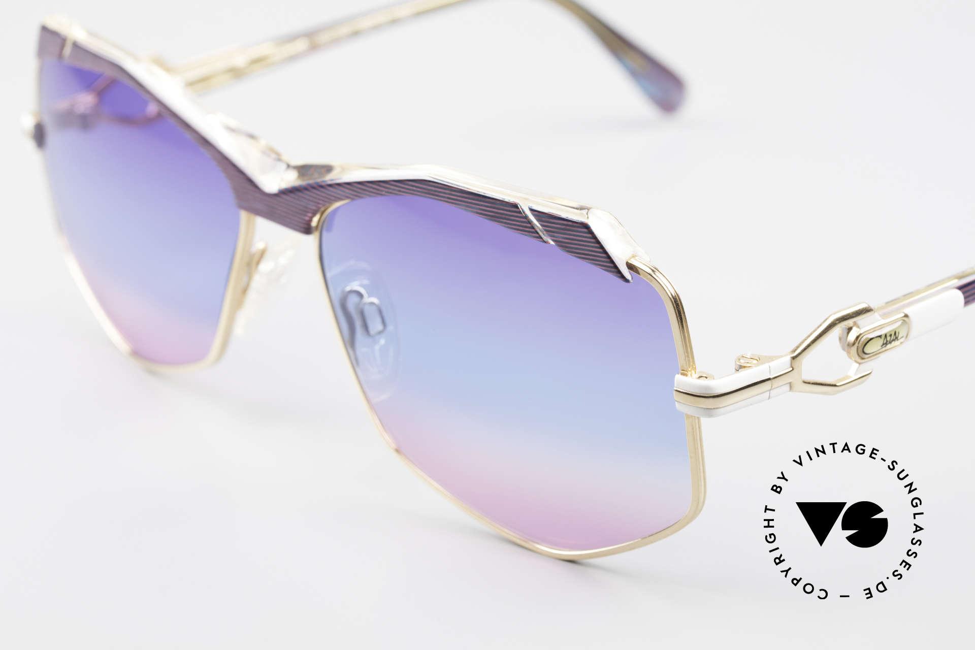 Cazal 230 Bunte Cazal Sonnenbrille 80er, damals Accessoire der amerik. HipHop Szene, Passend für Damen