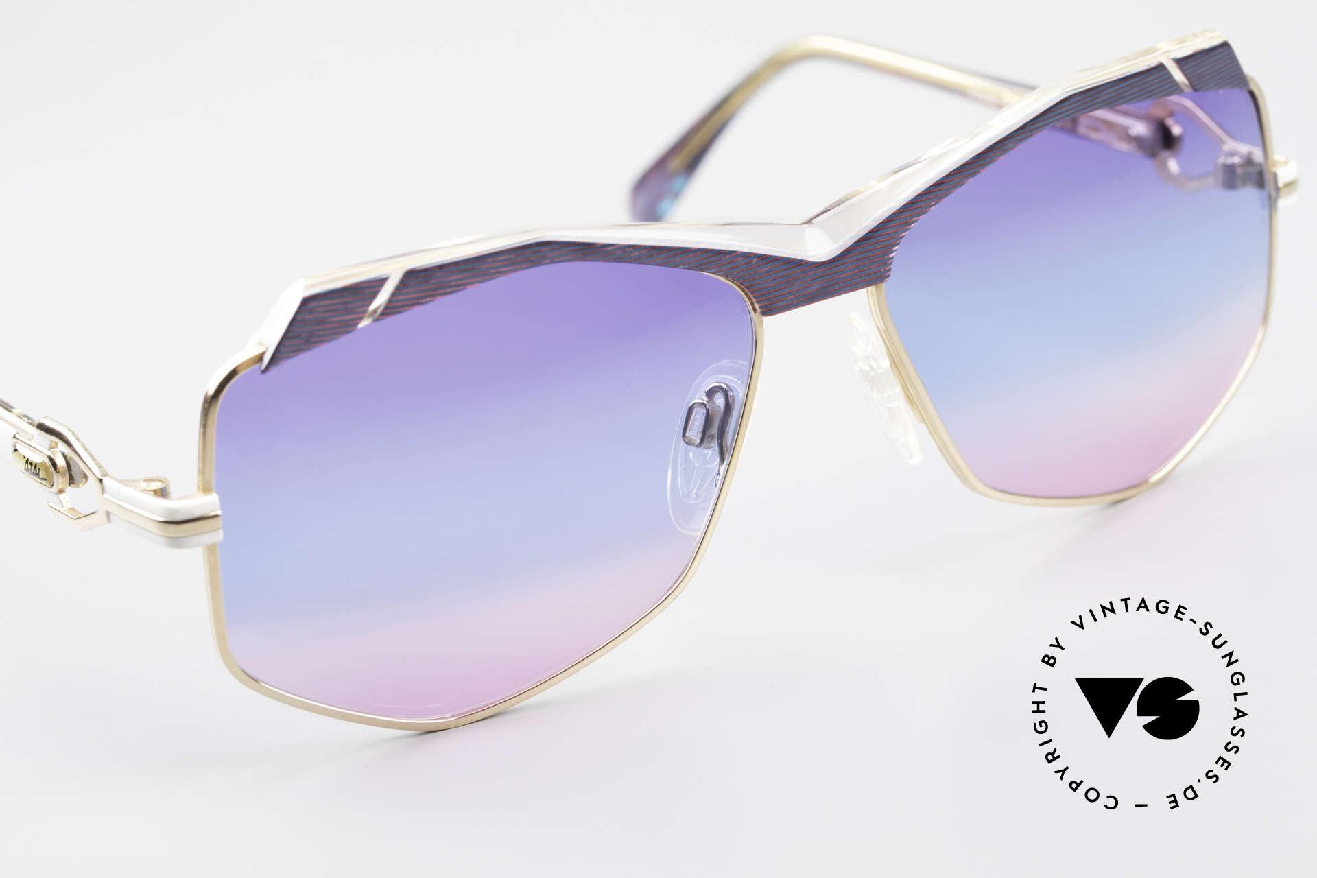 Cazal 230 Bunte Cazal Sonnenbrille 80er, ungetragen (wie alle unsere vintage Cazals), Passend für Damen