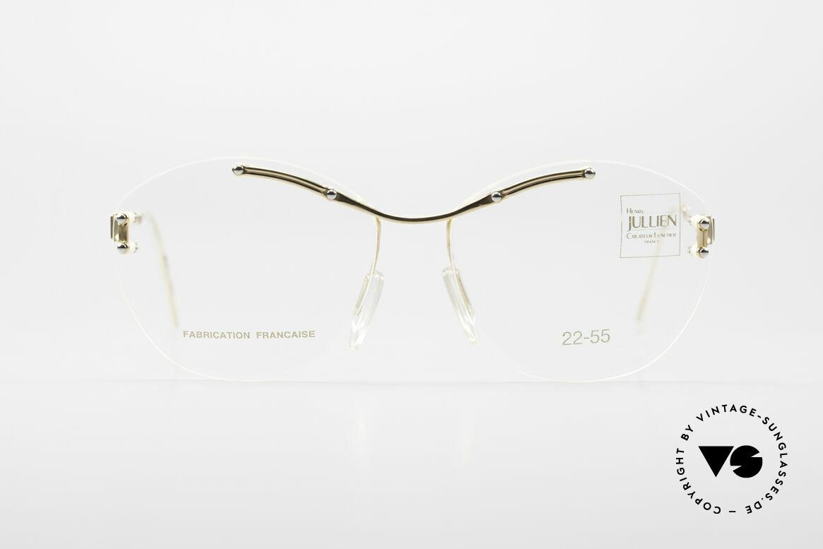 Henry Jullien Melrose 2255 Randlose Vintage Damenbrille, Jullien: Perfektionist in Sachen Gold-Verarbeitung, Passend für Damen