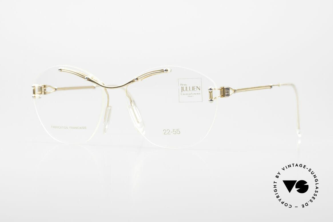 Henry Jullien Melrose 2255 Randlose Vintage Damenbrille, entsprechend edel und kostbar ist die Vergoldung, Passend für Damen