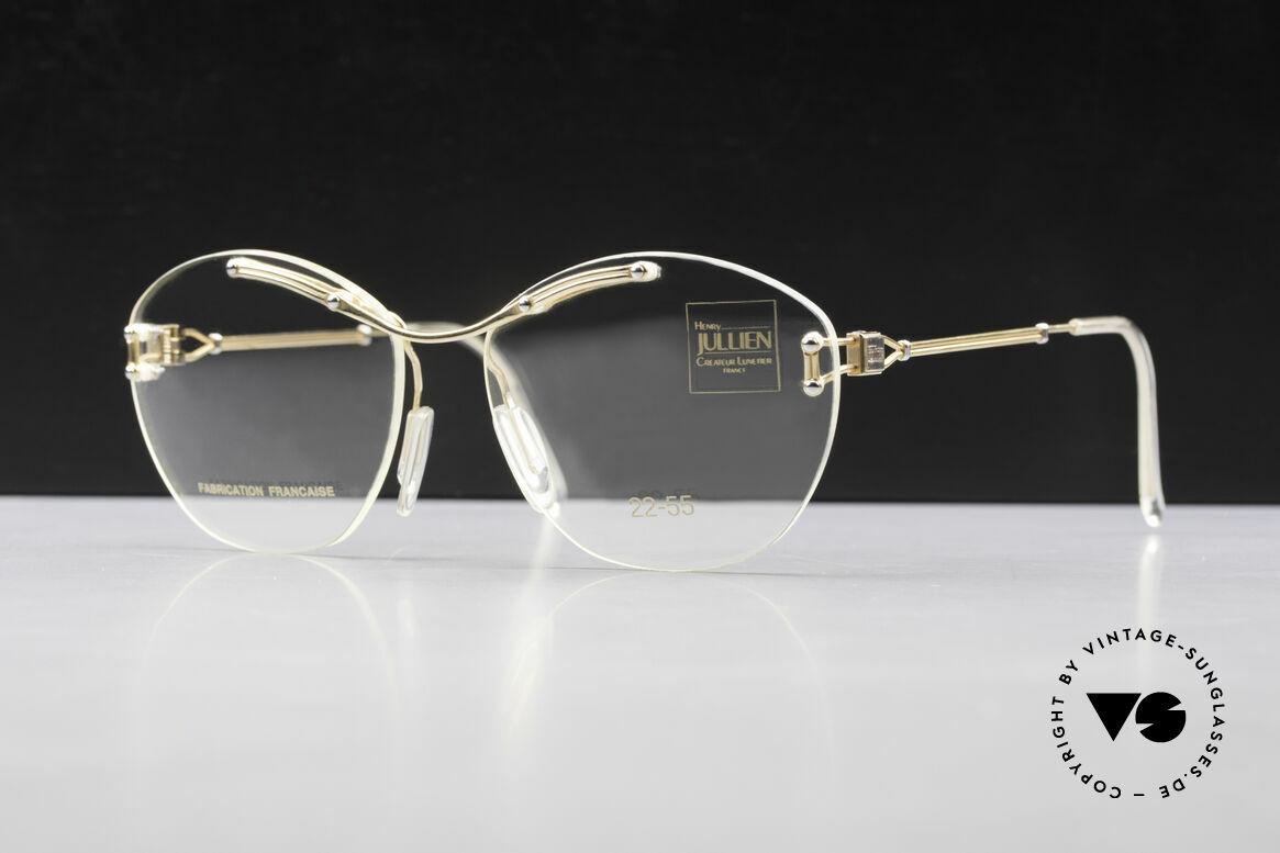 Henry Jullien Melrose 2255 Randlose Vintage Damenbrille, echte Qualitätsfassung; eine elegante Damenbrille, Passend für Damen