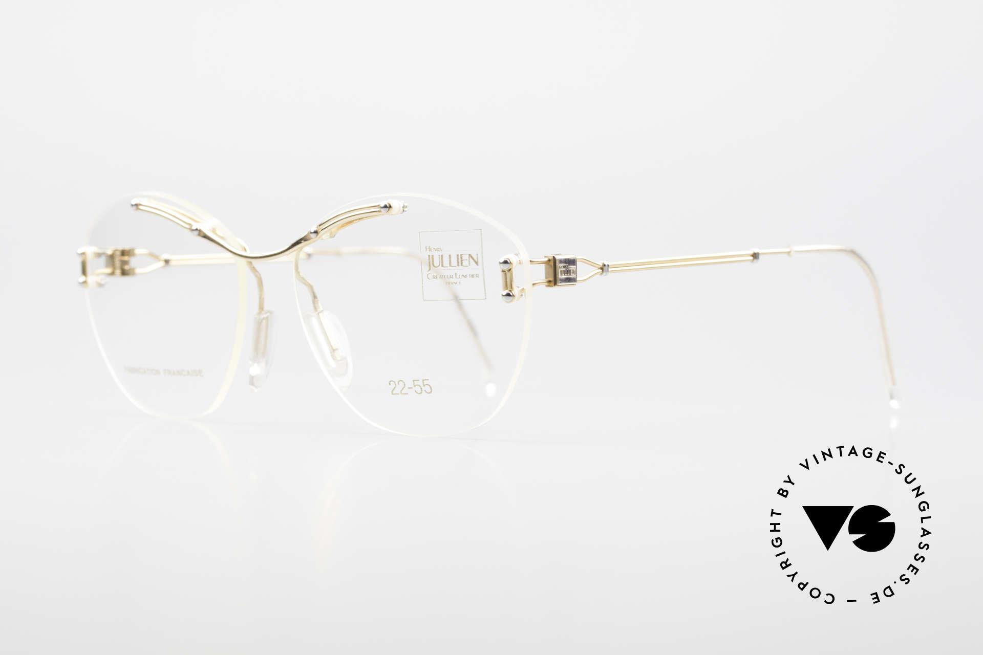 Henry Jullien Melrose 2255 Randlose Vintage Damenbrille, ungetragen (wie alle unsere edlen vintage Brillen), Passend für Damen