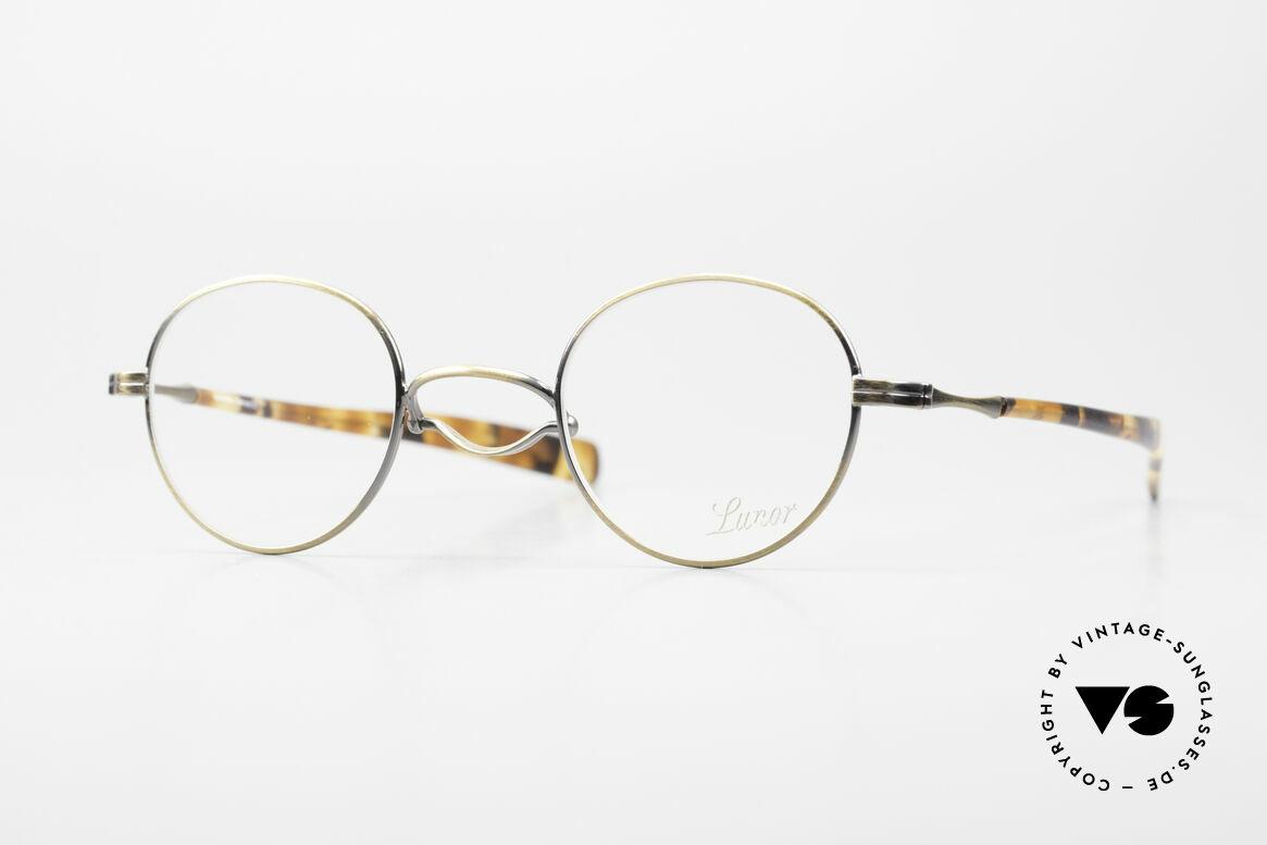 Lunor Swing A 32 Panto Vintage Brille Mit Schaukelsteg, original LUNOR Swing A 32 vintage PANTO Brille, Passend für Herren und Damen