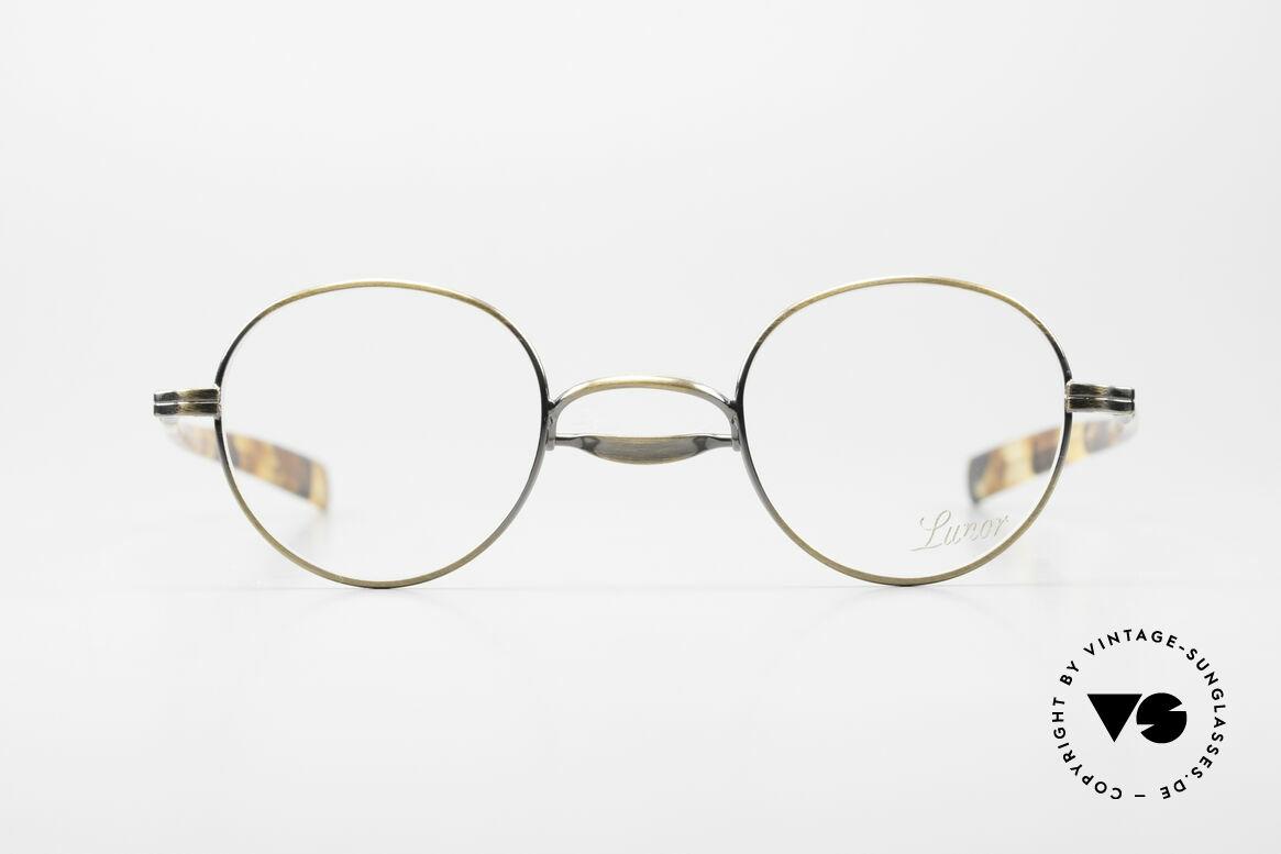 Lunor Swing A 32 Panto Vintage Brille Mit Schaukelsteg, Größe 41-25, AG = ANTIK GOLD, mit Swing-Steg, Passend für Herren und Damen