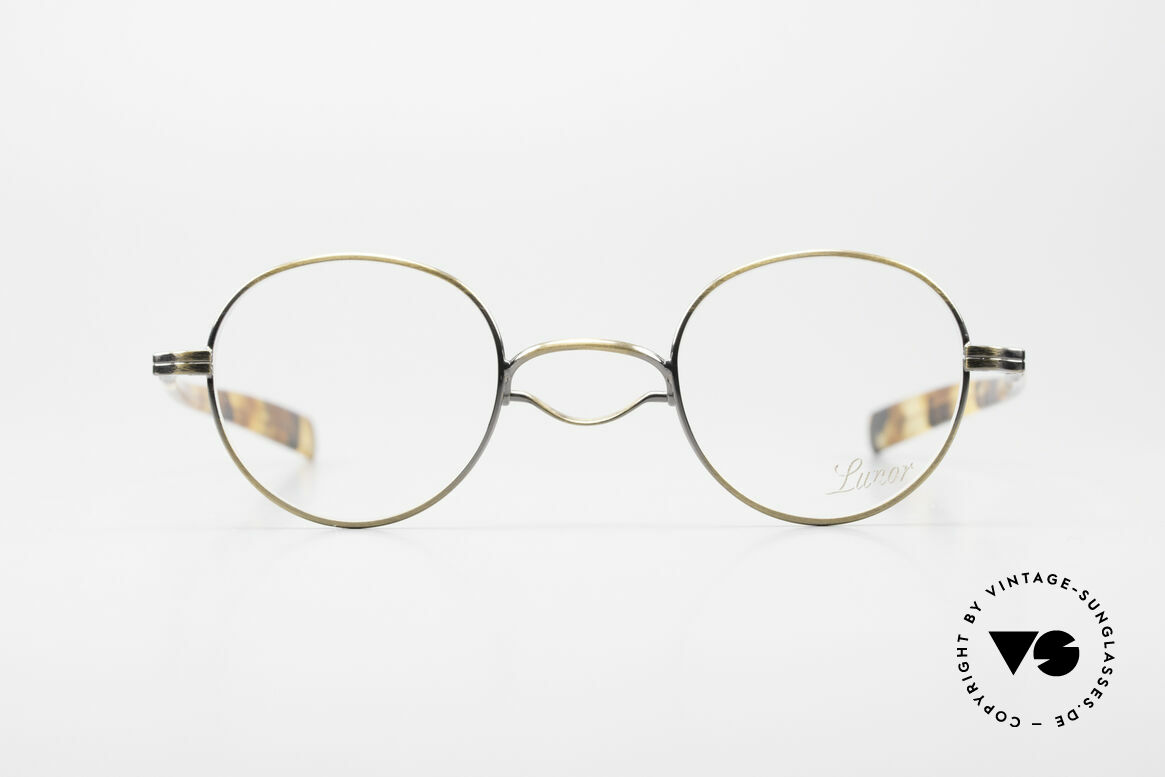 Lunor Swing A 32 Panto Vintage Brille Mit Schaukelsteg, Schwenksteg: Hommage an die Brillen von ca. 1900, Passend für Herren und Damen