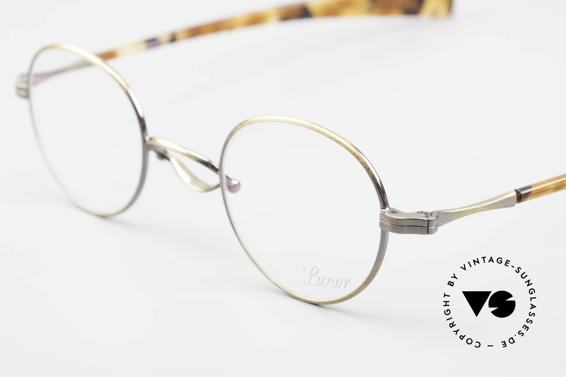 Lunor Swing A 32 Panto Vintage Brille Mit Schaukelsteg, ungetragen (wie alle unseren alten Lunor Klassiker), Passend für Herren und Damen