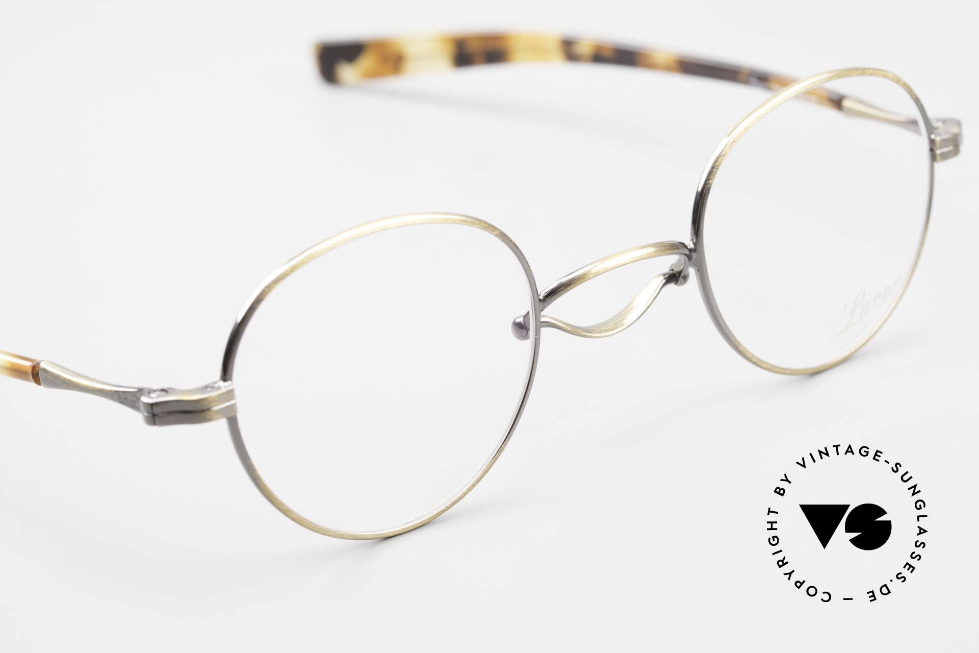 Lunor Swing A 32 Panto Vintage Brille Mit Schaukelsteg, die orig. Demogläser können beliebig ersetzt werden, Passend für Herren und Damen