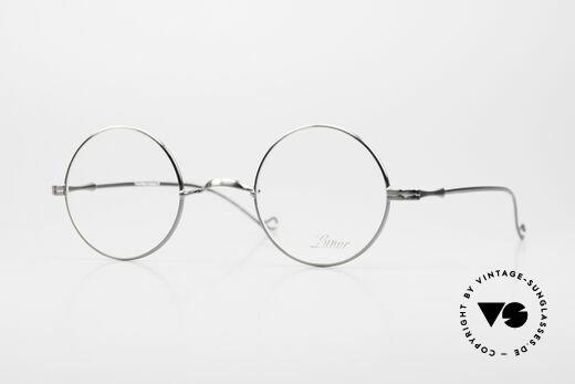 Lunor II 23 Runde Brille Antik Silber AS Details