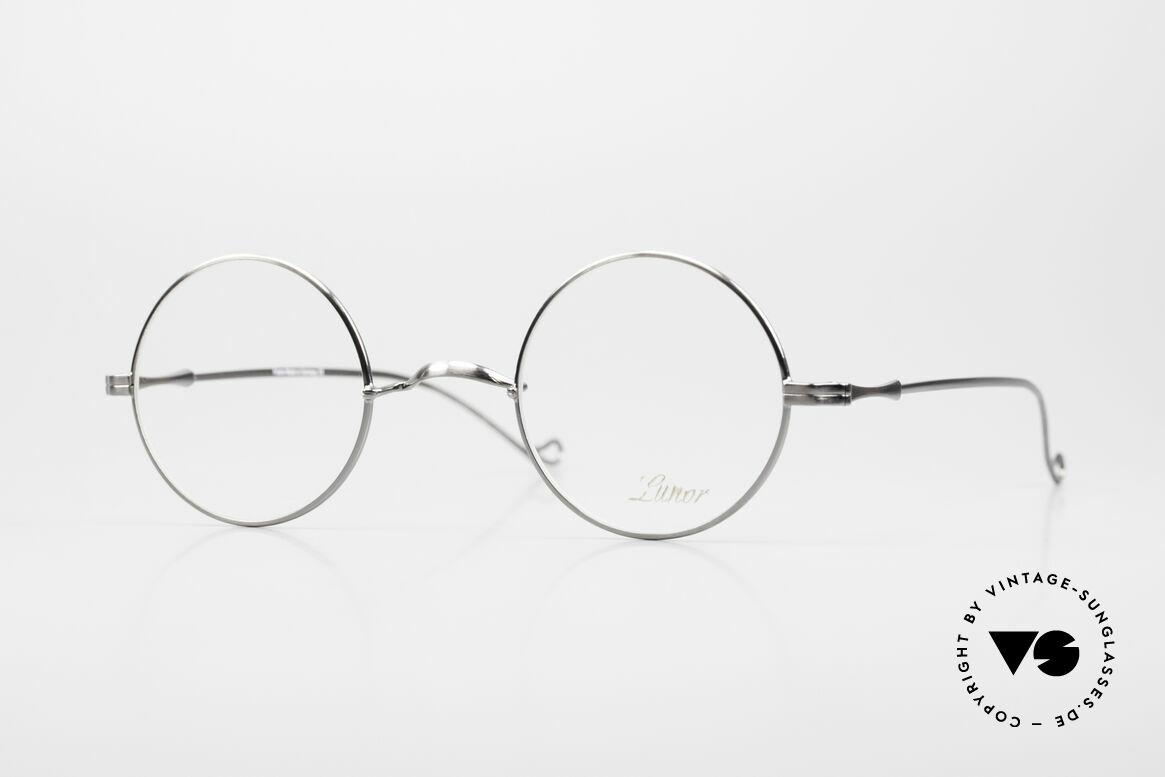 """Lunor II 23 Runde Brille Antik Silber AS, runde Lunor Brille aus der alten """"LUNOR II"""" Serie, Passend für Herren und Damen"""