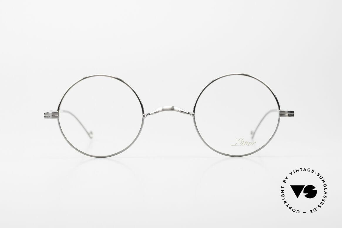 """Lunor II 23 Runde Brille Antik Silber AS, Vollrand-Metallfassung; sehr edel in """"antik silber"""", Passend für Herren und Damen"""