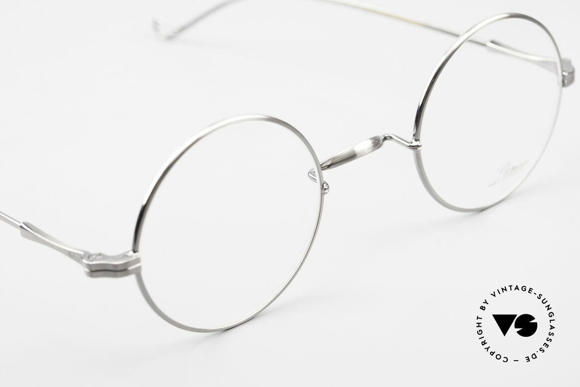 Lunor II 23 Runde Brille Antik Silber AS, altes, ungetragenes LUNOR Einzelstück, RARITÄT!, Passend für Herren und Damen