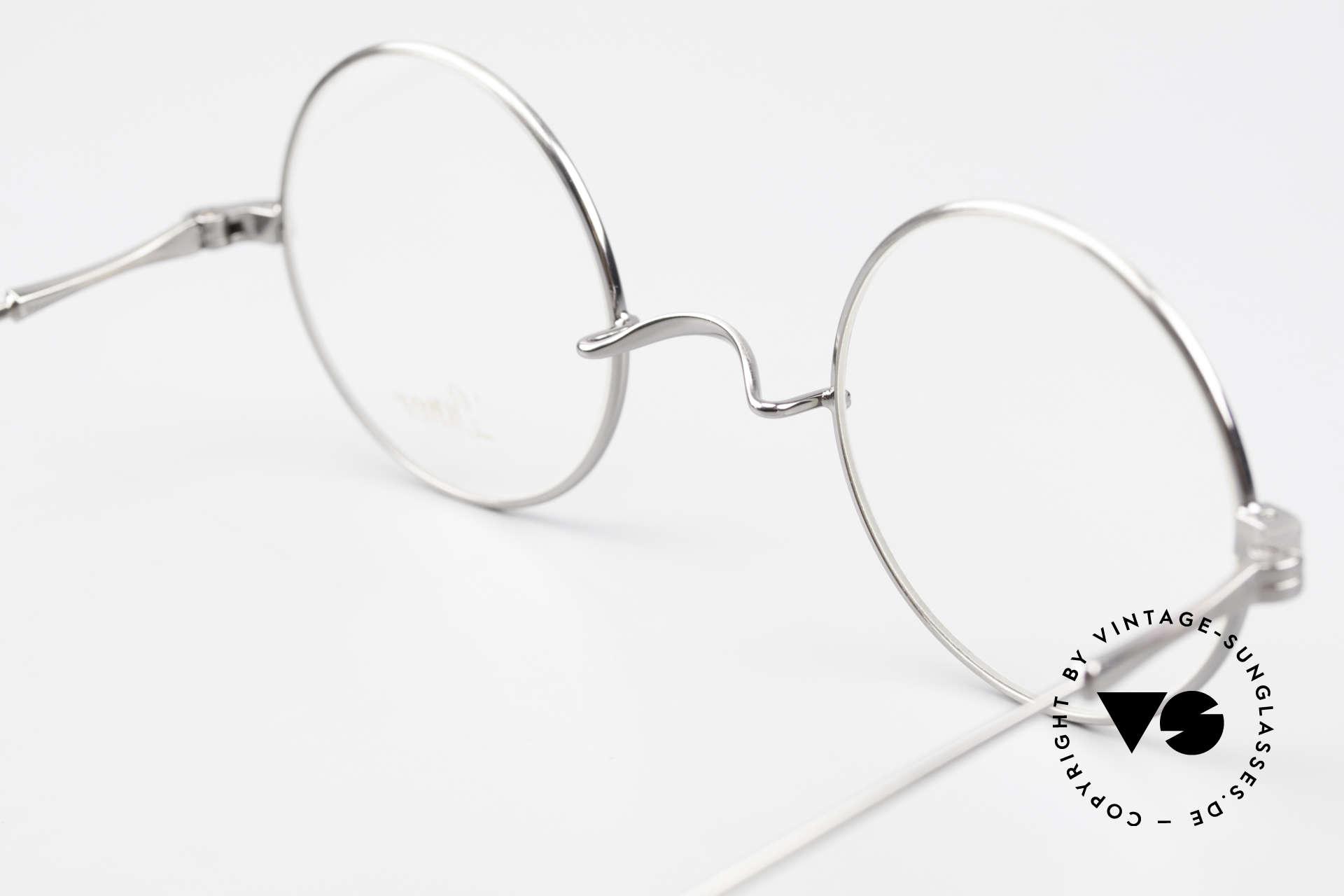Lunor II 23 Runde Brille Antik Silber AS, Größe: medium, Passend für Herren und Damen