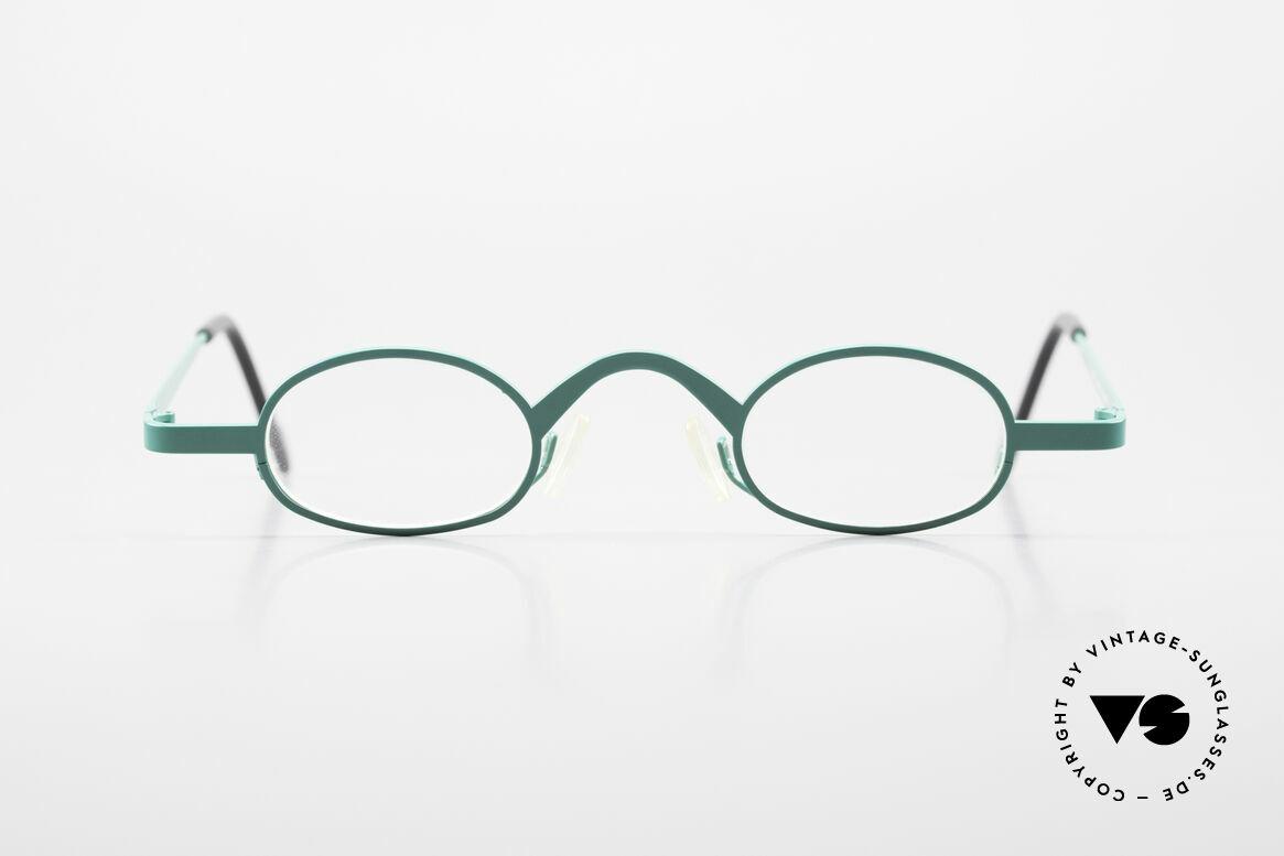 Theo Belgium Brave Ovale Vintage DesignerBrille, ovale VINTAGE Brille von THEO Belgium der 1990er, Passend für Herren und Damen
